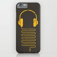 iPhone & iPod Case featuring Gold Headphones by Sitchko Igor