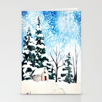 Flurries  Stationery Cards