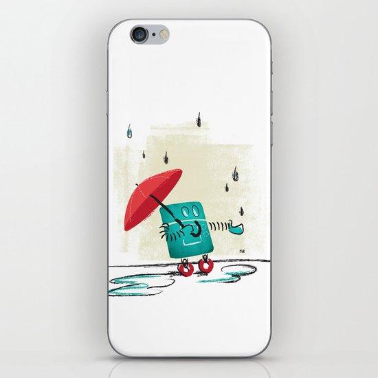 Rain is Bad for Robots iPhone & iPod Skin