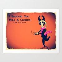 I Brought You Cookies Art Print