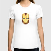 IronMan Fracture Womens Fitted Tee White SMALL