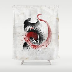 The Symbiote Shower Curtain