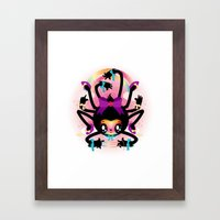 Crafty spider Framed Art Print