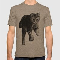 Jumping Cat Mens Fitted Tee Tri-Coffee SMALL