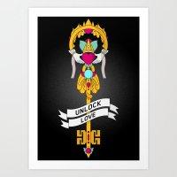 Unlock Love Art Print