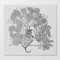 Mistletoe Stag Canvas Print