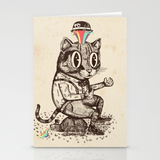 Strange Cat Stationery Card