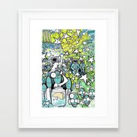 Visuals of Inexplicable Maybe, Act 3 Framed Art Print