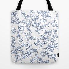 Toile Roses Tote Bag