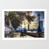 River Thames Path Oil Art Print