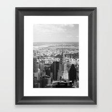 Black and White. Chrysler Building, New York. Framed Art Print