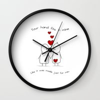 Hold My Hand  Wall Clock