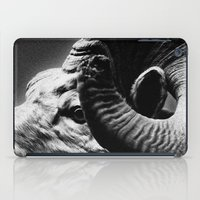 Tom Feiler Black and White Ram iPad Case