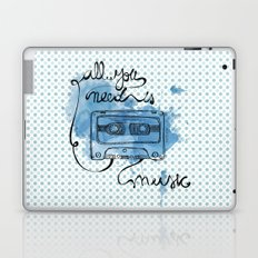 Music's all you need Laptop & iPad Skin