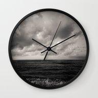 Summer Ver.black Wall Clock