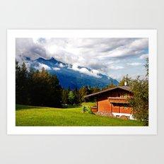 Walking in the Tyrol. Art Print