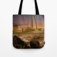 Red City Tote Bag