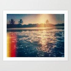 cotton's sunset Art Print