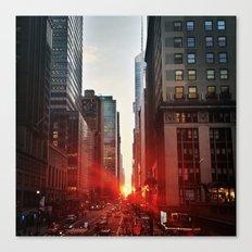 manhattan sunset 6 Canvas Print
