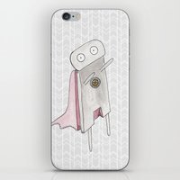 Robot superhero II iPhone & iPod Skin