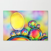 A Rainbow Of Hundreds An… Canvas Print