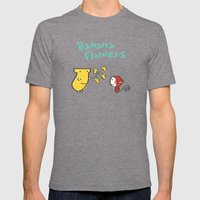 Banana Flowers Mens Fitted Tee Tri-Grey SMALL