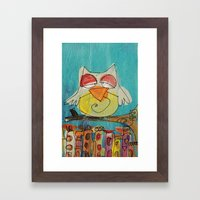 Urban Owl  Framed Art Print