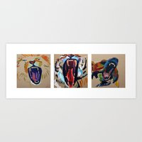 lions and tigers and bears- oh my Art Print