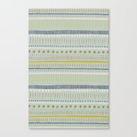 Teal & Green Pattern Canvas Print