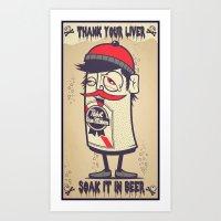 Thank Your Liver Art Print