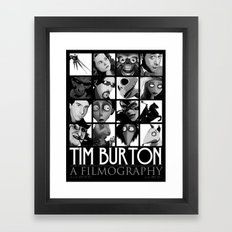 Tim Burton - a filmography Framed Art Print