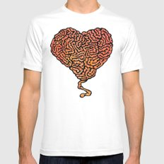 Brainheart SMALL White Mens Fitted Tee