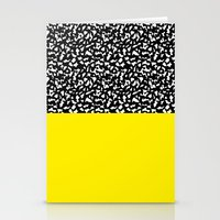 Memphis Black and Yellow 80s Stationery Cards