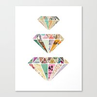 Diamonds Are A Girls Bes… Canvas Print