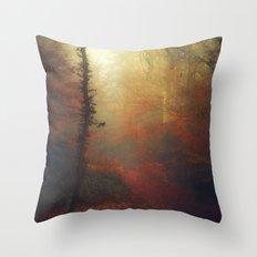 Carmine Path Throw Pillow