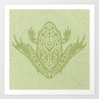 Tribal Leopard Frog Art Print