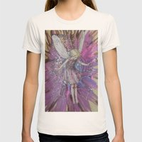 Pink Lady Garden Fairy A… Womens Fitted Tee Natural SMALL