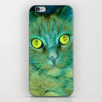 Cat With Yellow Eyes iPhone & iPod Skin