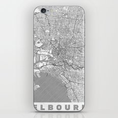Melbourne Map Line iPhone & iPod Skin