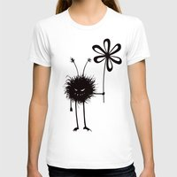 Evil Flower Bug Womens Fitted Tee White SMALL