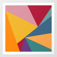 Sayonara - Geometrical pattern design Art Print