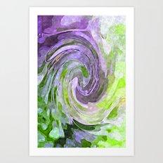 Abstract Waves watercolor abstract Art Print