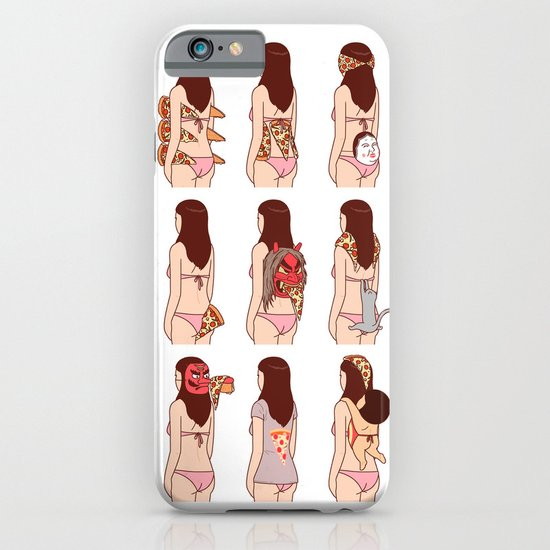 Girl & Pizza iPhone & iPod Case