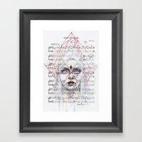 Queen Of Diamonds On She… Framed Art Print