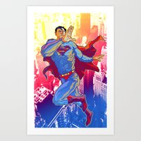 Hometown Hero Art Print