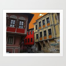 STREET VIEW Art Print