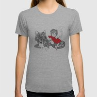 Little Red Riding Hood Womens Fitted Tee Athletic Grey SMALL