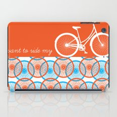 i want to ride my bicycle iPad Case