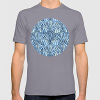 View From A Blue Window Mens Fitted Tee Slate SMALL