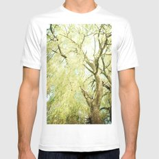 Willow Tree Mens Fitted Tee SMALL White